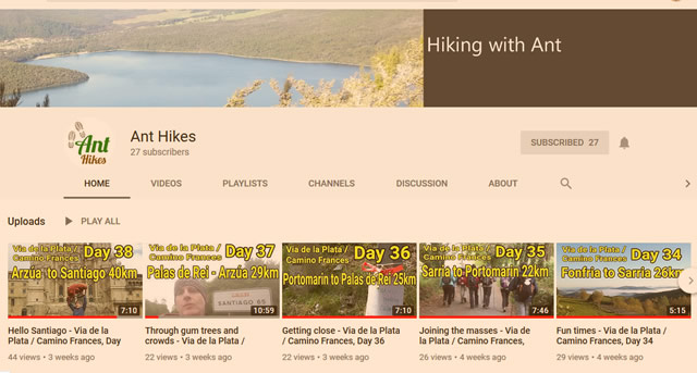 Youtube Hiking Channel Camino