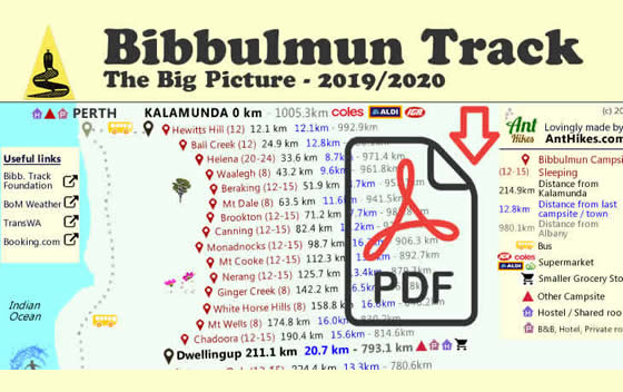 Bibbulmun Track Big Picture Map