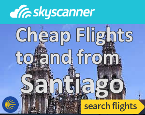 santiago camino flights