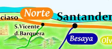 camino norte map