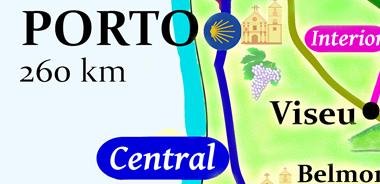 camino portuguese map