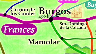 camino frances map